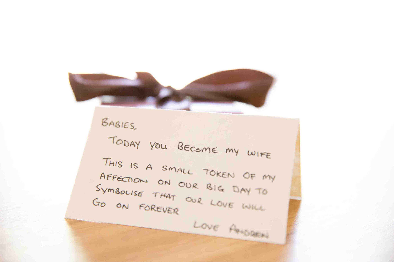wedding note to bride