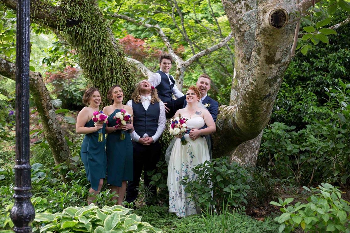 wellington wedding photoshoot at botanic garden